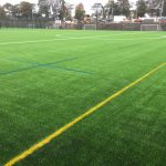 Blue Rugby Lines & Yellow dividing lines applied onto Synthetic Grass Pitch