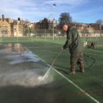 Cleaning Tennis Courts - Meadows - Edinburgh