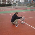 Slip Testing Macadam Tennis Courts in Damp Condition