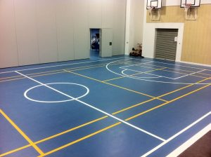 Indoor Lines on PU Floor