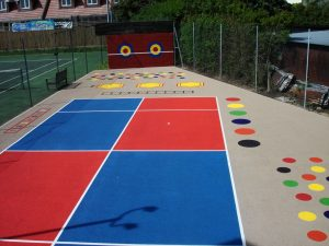 Kids Zones with Summer Tan Surround and Mini Tennis Markings