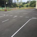 Road Safety Markings at Primary School