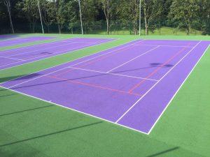Wimbledon Two Tone Court Wimbledon Purple – Inner Standard Green – Outer