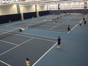 Cushioned Acrylic Indoor Tennis Courts