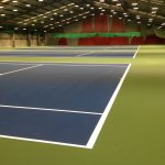 Tennis Lines on Indoor Plexicushion Surface - Ozone - Belfast