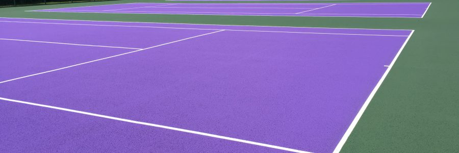 Wimbledon Purple Coloured Tennis courts