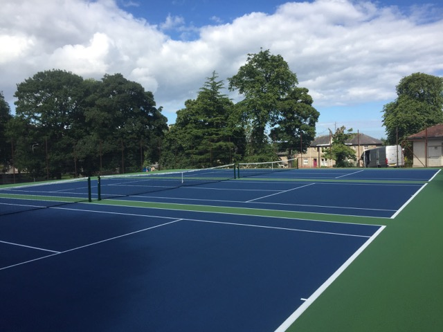 Tennis Courts finished with 2 Coats of Colour Coating & Tennis Lines