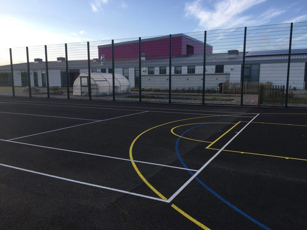 Tennis, Basketball & 5-a-Side Lines - North Uist PS, Bayhead - MUGA