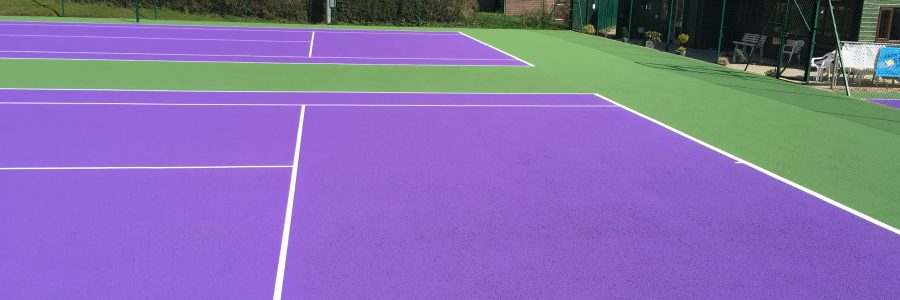 Tennis court repainting for tennis clubs