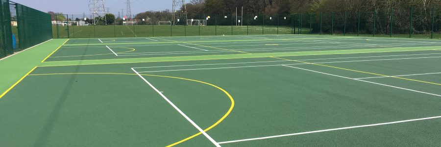 Repainting School Sports Courts